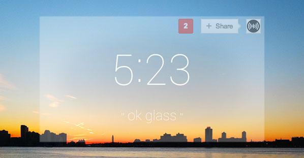 Google Glass kilátás